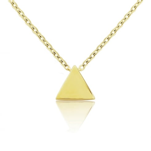 9ct Yellow Gold Triangle Pendant