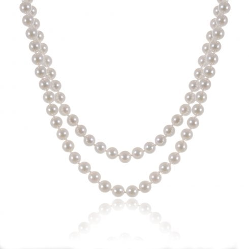Double Row Cultured Pearl Strand
