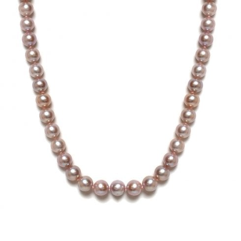 Pink / Purple Freshwater Cultured Pearl Strand