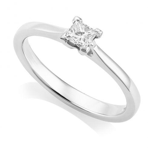 Platinum 0.21ct. H/VS Princess Cut Solitaire Diamond Ring