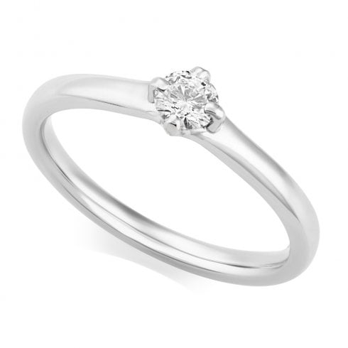 Platinum 0.24ct. Solitaire Diamond Ring