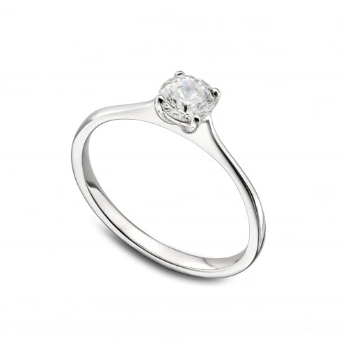 Platinum 0.30ct. G/PK Solitaire Diamond Ring