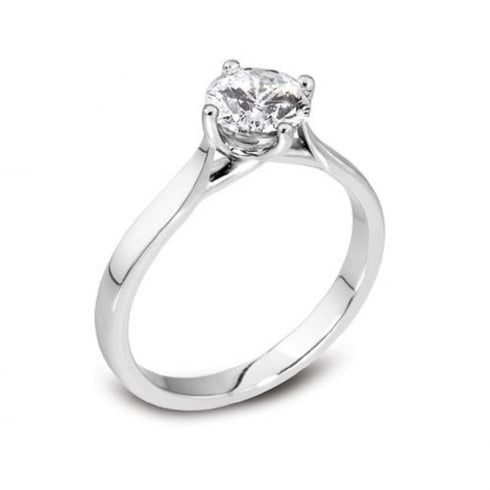 Platinum 0.30ct. G/SI1 Solitaire Diamond Ring