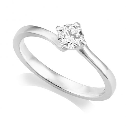 Platinum 0.32ct. G/SI2 GIA Cert Solitaire Diamond Ring