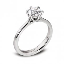 Platinum 0.34ct. F/SI2 GIA Cert Solitaire Diamond Ring