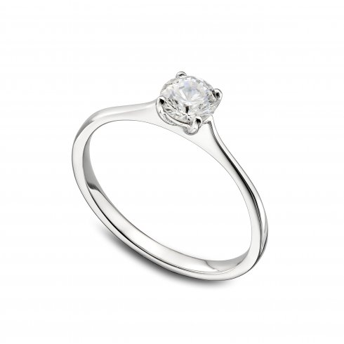 Platinum 0.36ct. H/PK Solitaire Diamond Ring