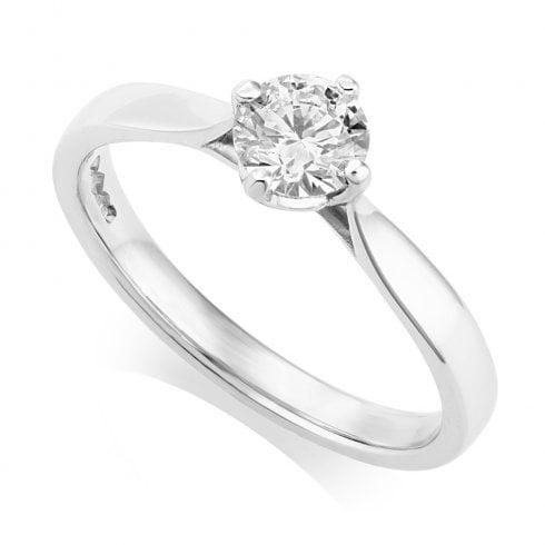 Platinum 0.44ct. F/VS2 GIA Cert Solitaire Diamond Ring