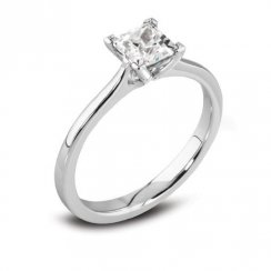 Platinum 0.50ct. D/VS2 GIA Cert Solitaire Diamond Ring
