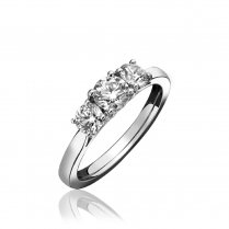 Platinum 0.50ct H/SI Three Stone Diamond Ring