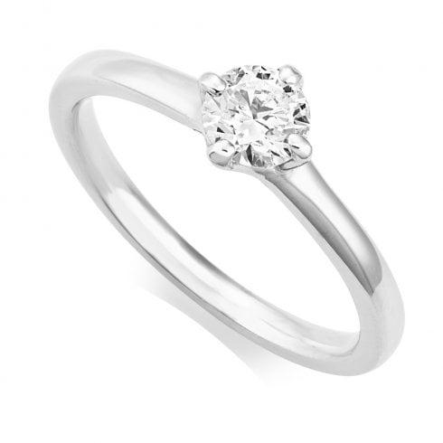 Platinum 0.51ct. E/SI1 GIA Cert Diamond Solitaire Ring