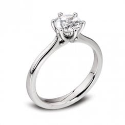 Platinum 0.51ct. F/SI2 GIA Cert Solitaire Diamond Ring