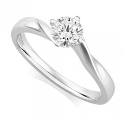 Platinum 0.52ct. D/SI1 IGI Cert Solitaire Diamond Ring