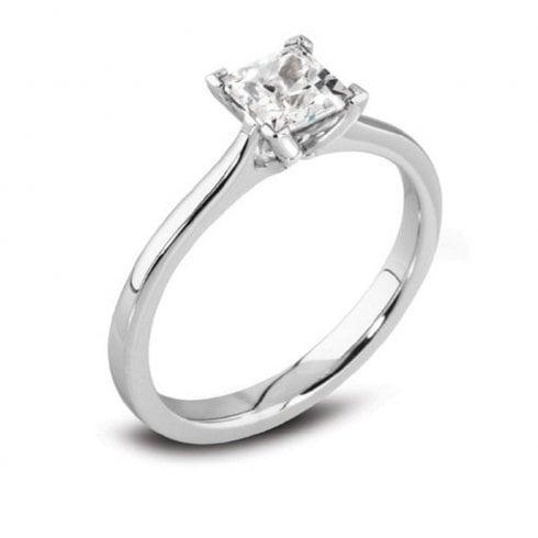 Platinum 0.75ct. F/SI2 GIA Cert Solitaire Diamond Ring