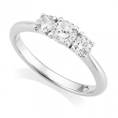 Platinum 0.75ct Three Stone Diamond Ring