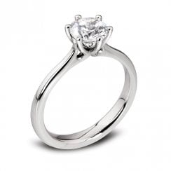 Platinum 1.01ct. F/SI1 GIA Cert Solitaire Diamond Ring