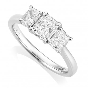 Platinum 1.18ct Diamond Ring GIA Centre