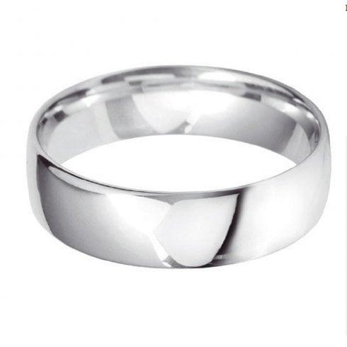 Platinum 6.0mm Court Profile Wedding Ring