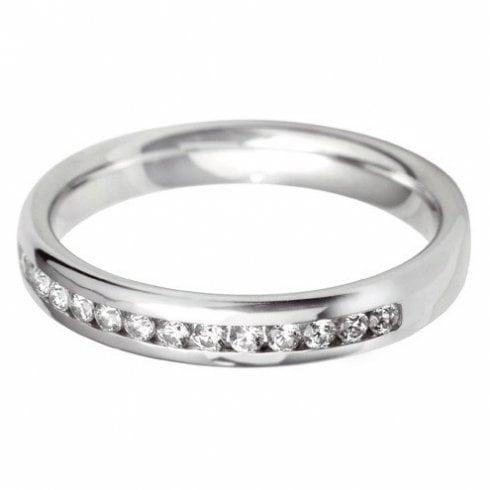 Platinum and Diamond 60% Channel Set Ring