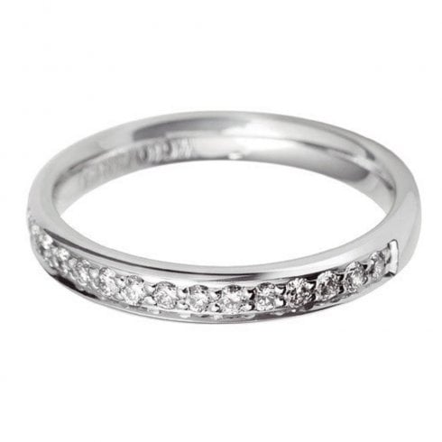 Platinum And Diamond 60% Grain Set Eternity Ring