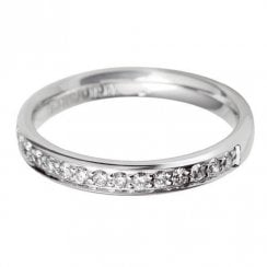 Platinum And Diamond 60% Grain Set Eternity Ring