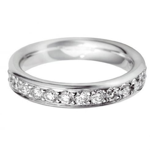 Platinum And Diamond Grain Set Ring
