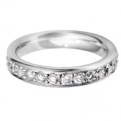 Platinum And Diamond Grain Set Ring