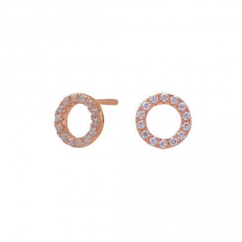 Rose Gold Finish Circle Earrings