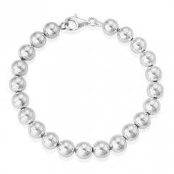 Silver Ball Bead Bracelet