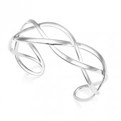 Silver Celtic Cuff Bangle