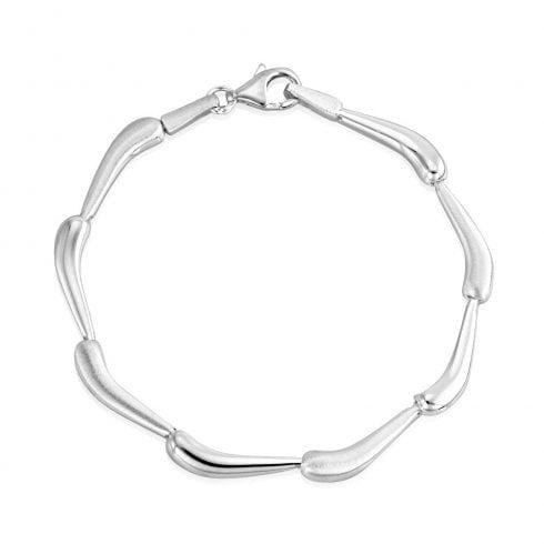Silver Curved Bar Bracelet