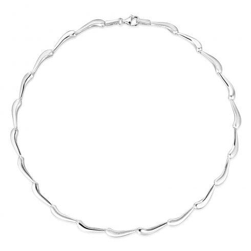 Silver Curved Bar Necklet