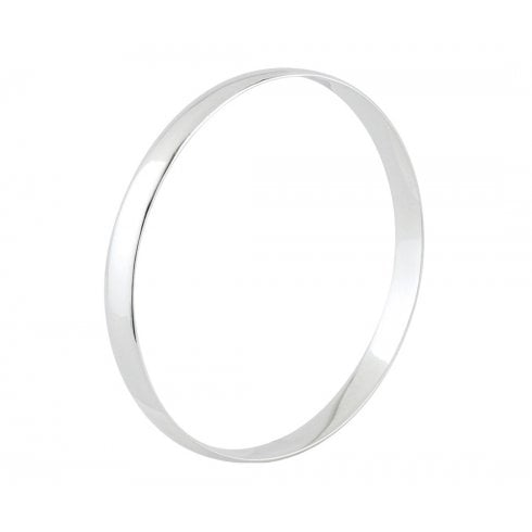 Silver D-Profile Bangle
