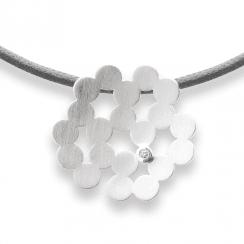 Silver Diamond Set Pendant