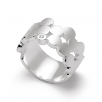 Silver Diamond set Ring