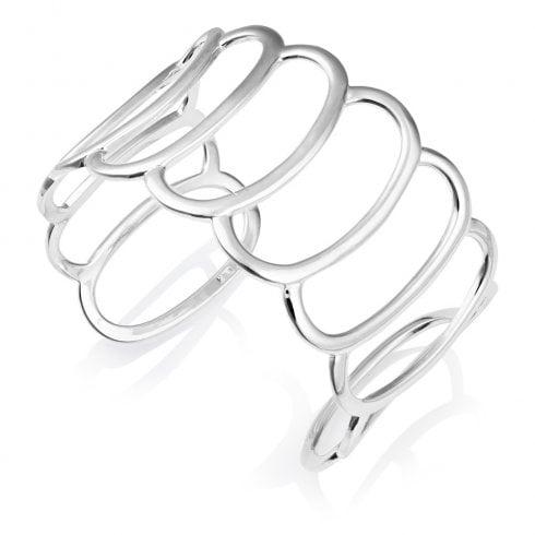 Silver Oval Cuff Bangle