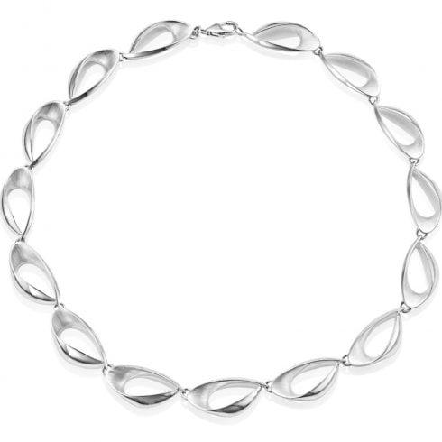 Silver Oval Link Necklet