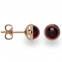 Silver Rose Gold Finish Garnet Earrings