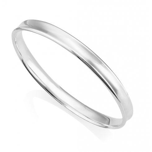 Silver Round Bangle