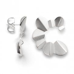 Silver Satin Finish Earrings