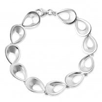 Silver Satin & Polished Bracelet