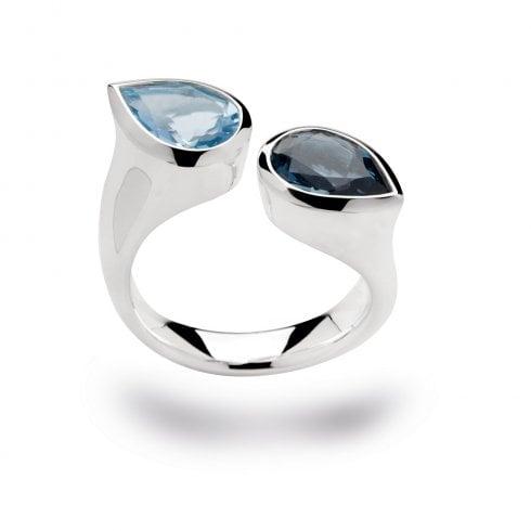 Silver Swiss & London Blue Topaz Ring