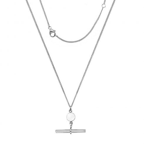 Silver T-Bar Pendant