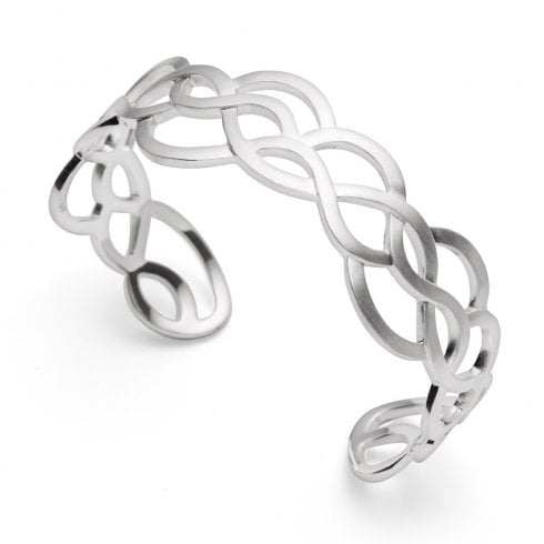 Silver Wave Cuff Bangle