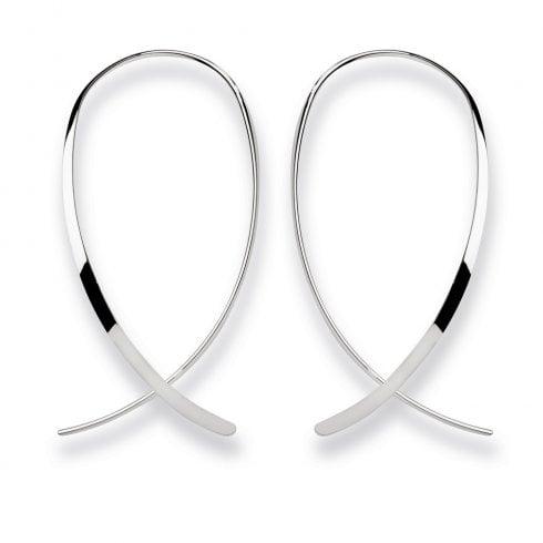 Silver Wire Hook Earrings
