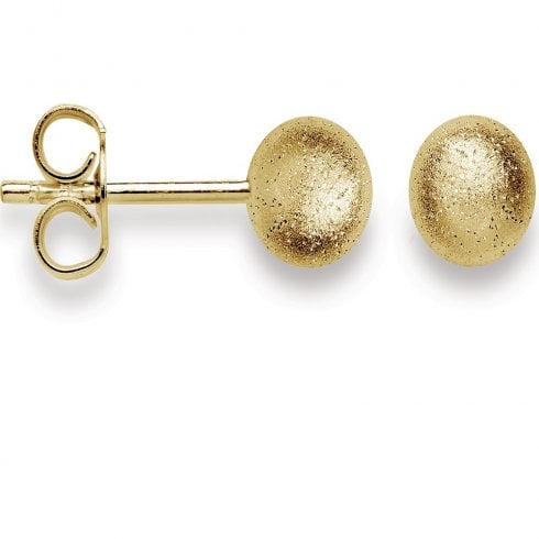 Silver Yellow Gold Finish Diamond Dust Stud Earrings, Small