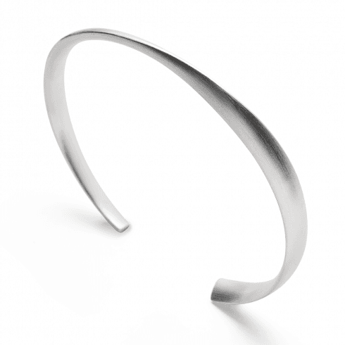 Solid Silver Twist Cuff Bangle